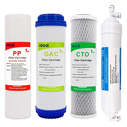 1622780a6685 HiKiNS Advanced Reverse Osmosis Filter Replacement Set for 5-Stage Reverse  Osmosis Water Filtration Systems