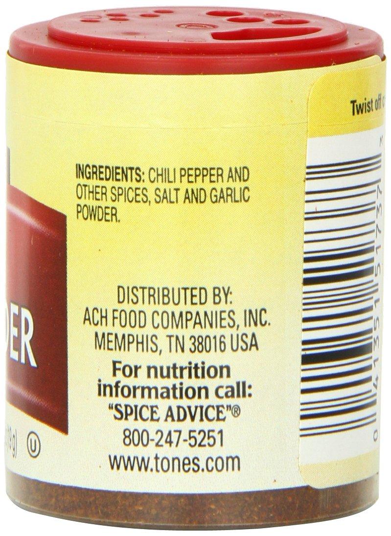 Tone's Mini's Chili Powder, Mild, 0.65 Ounce (Pack of 6)