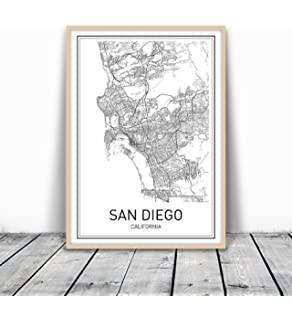 Amazoncom ZIP Code Wall Map of San Diego CA ZIP Code Map