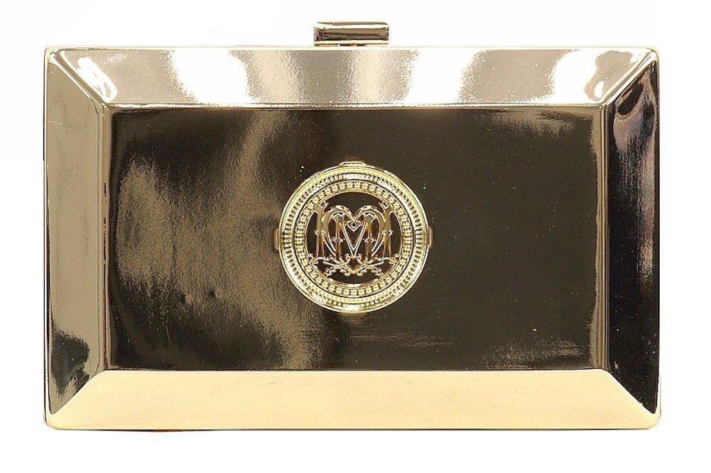 Love Moschino Women's Metallic Gold Crossbody Clutch