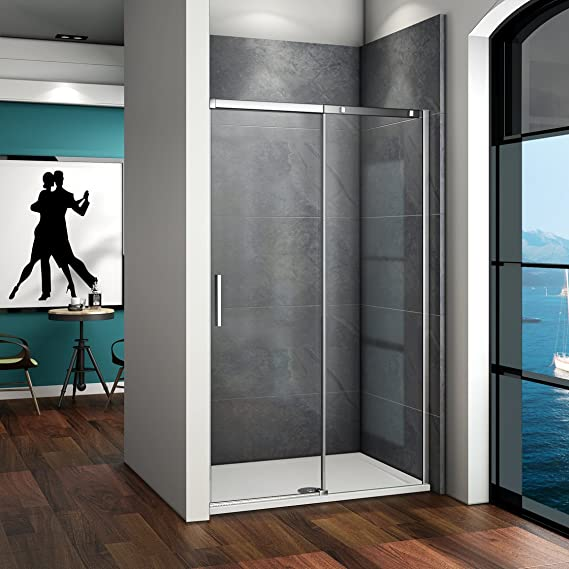 115x195cm Mamparas de ducha puerta de ducha 8mm vidrio templado de ...
