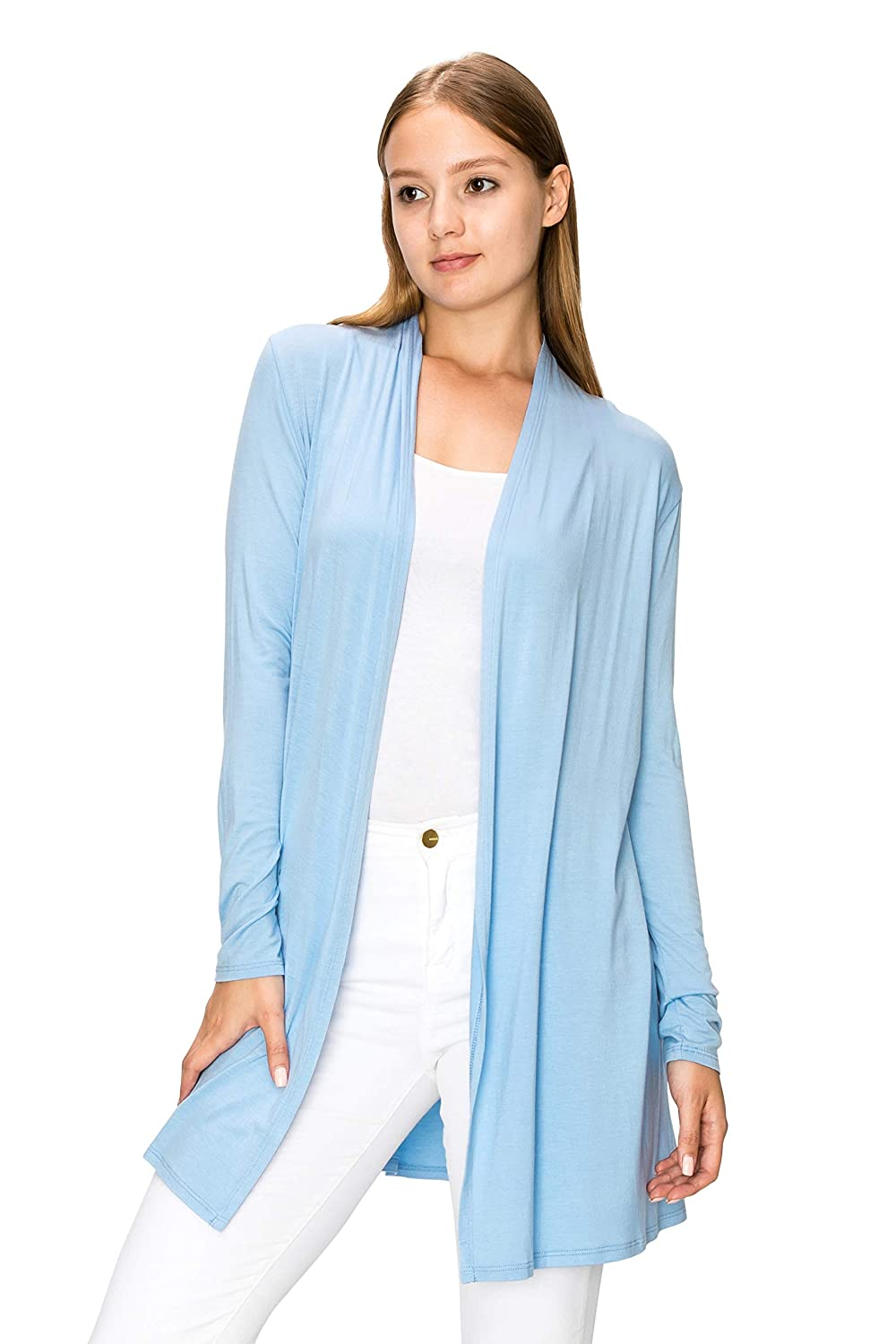 c9da78b616e FITS ANY SIZES  These fall and winter Long Lightweight Wrap Cardigans  Sweaters-EttelLut Open Front Regular Plus Size come in the sizes of S