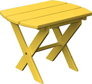 product image for Poly Folding End Table - Yellow
