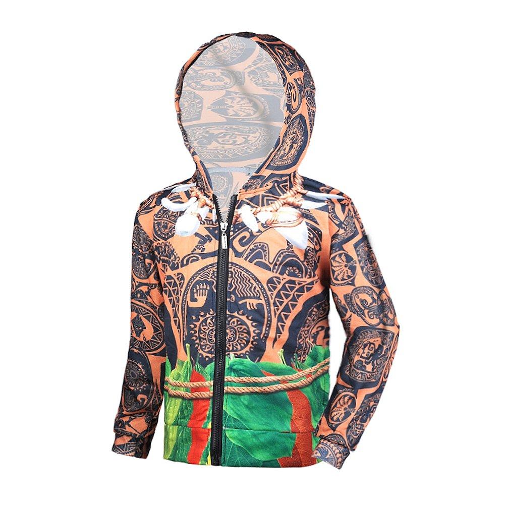 Okidokiyo Maui Little Boys Zipper Hoodie Kids Jacket Coats (5 Years, Brown 01)