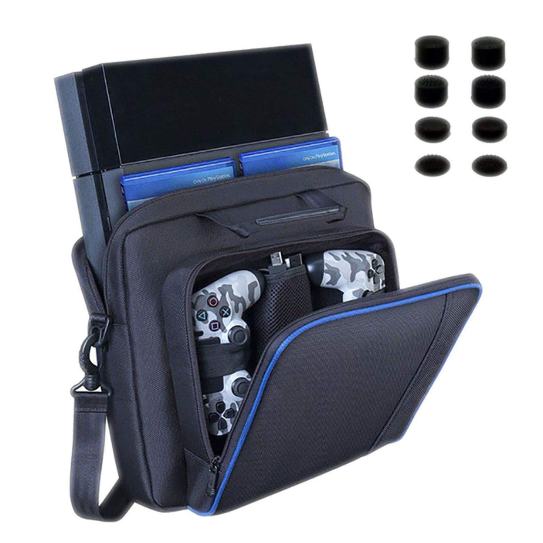 Large Travel Storage Carry Bag for PS4/Slim Protective Shoulder Bag Handbag Console for Sony Playstation 4 Console Game System Bag,T1