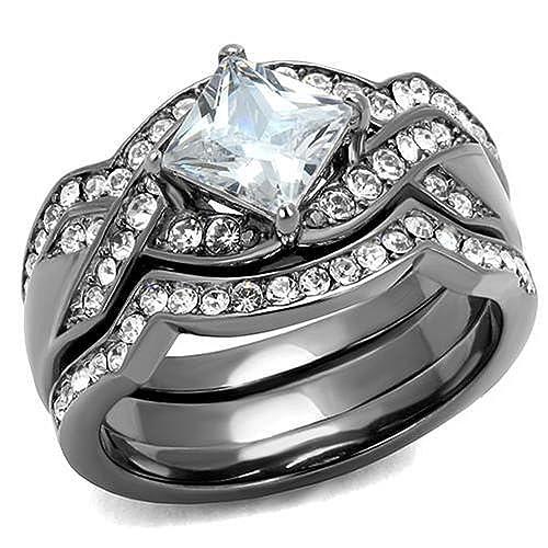 2 CARAT ROUND CUT CZ WEDDING ENGAGEMENT RING SETSIZE 5 6 7 8 9 10