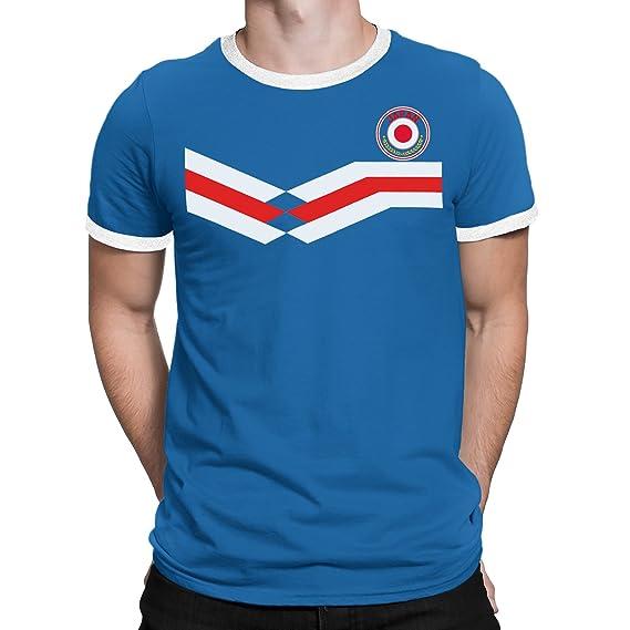 Tee Spirit Japan Camiseta Para Hombre World Cup 2018 Fútbol New Style Retro: Amazon.es: Ropa y accesorios