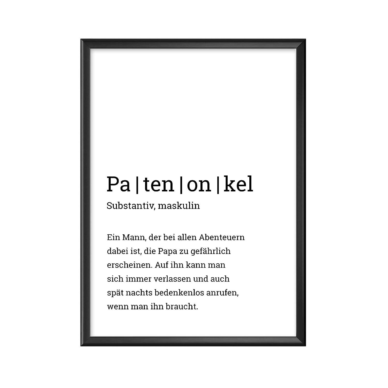 Pers/önliches Bild als Geschenk f/ür deinen Patenonkel in a4 oder 30x40cm Definition Poster Patenonkel ohne Bilderrahmen mattes Fotopapier 210 g//m/²