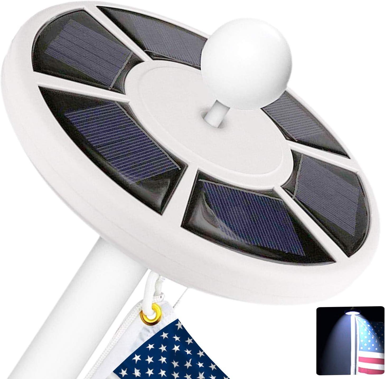 42 LED Solar Flag Pole Lights Waterproof Flagpole Downlight Environmentally Hot
