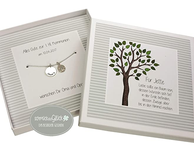 Taufkette Mädchen Junge Lebensbaum 925 Silber Mit Gravur Und