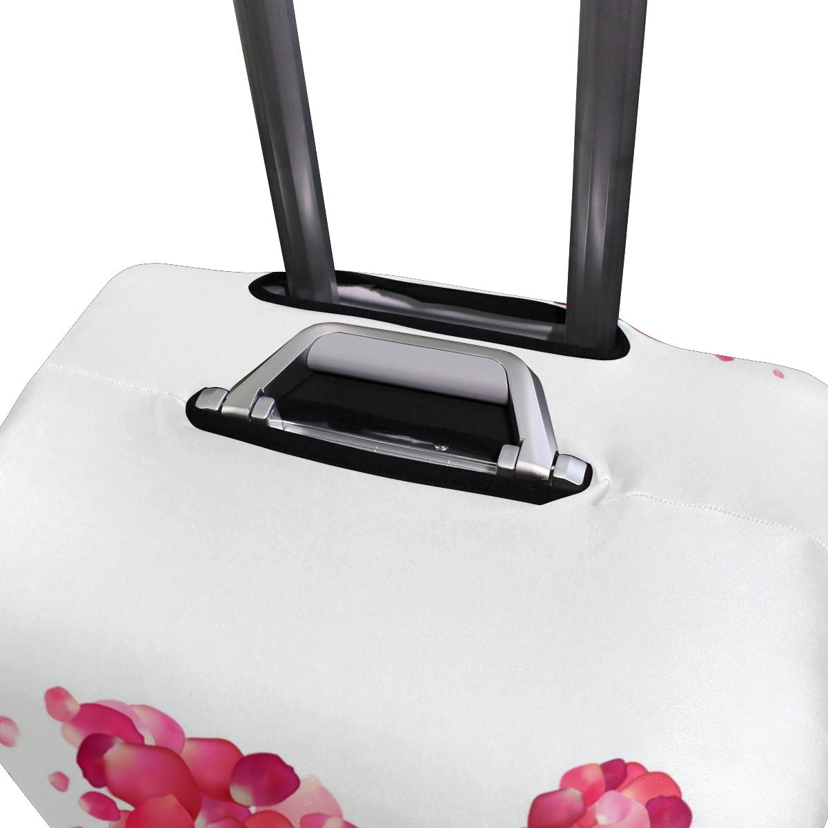 OREZI 3D Pink Petal Luggage Protector Suitcase Cover 18-32 Inch