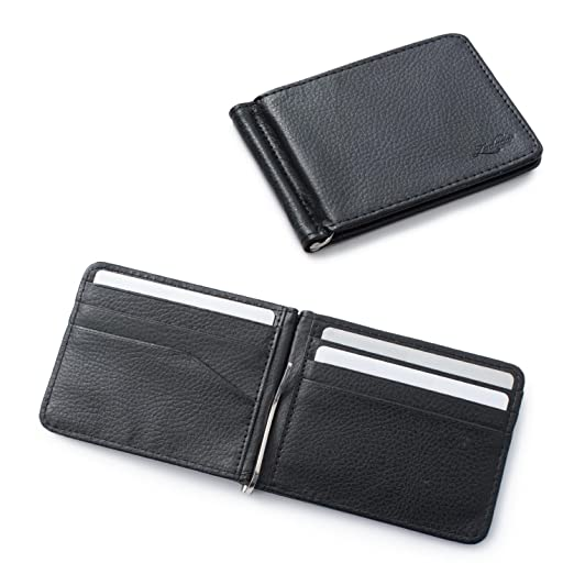 4c272e4d72af0 Zodaca Bifold Leather Wallet ID Card Business Card Case Credit Card Holder   Lightweight