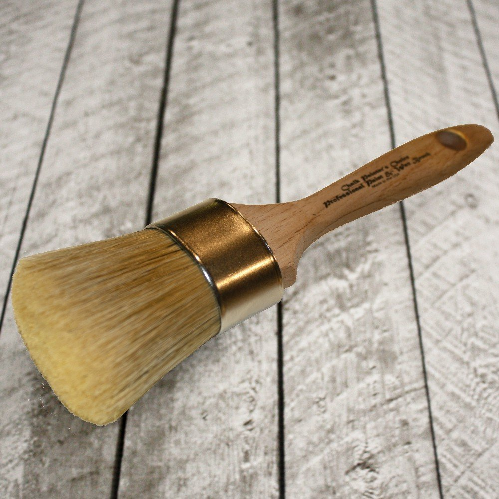 Chalk Painter's Choice-Large Oval Professional Paint & Wax Brush (O15)