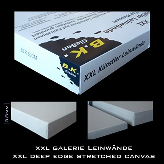 6 PREMIUM STRETCHED BLANK CANVASES 30x40 cm ~12x16 in canvas on stretcher bars