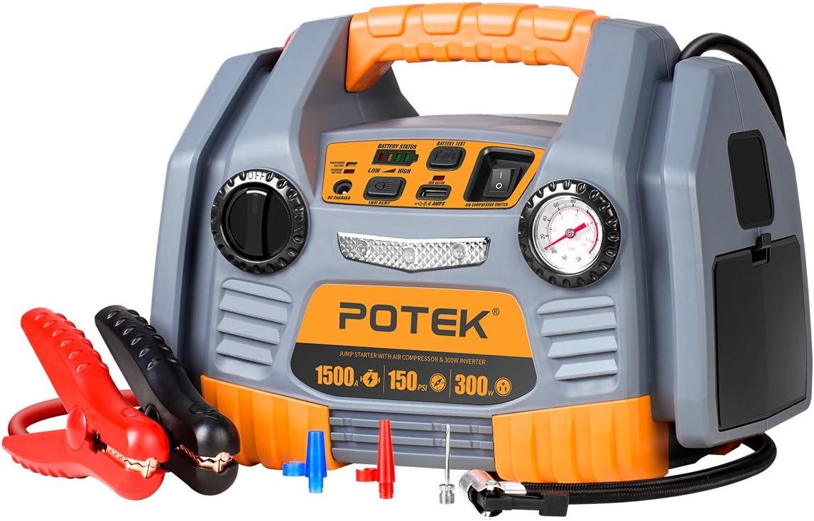 Potek Portable Power Source Air Compressor