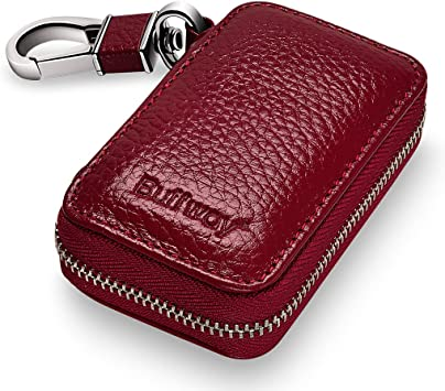 Nice Genuine Key Holder Case Leather Keychains Pouch Bag Car Wallet Key Ring