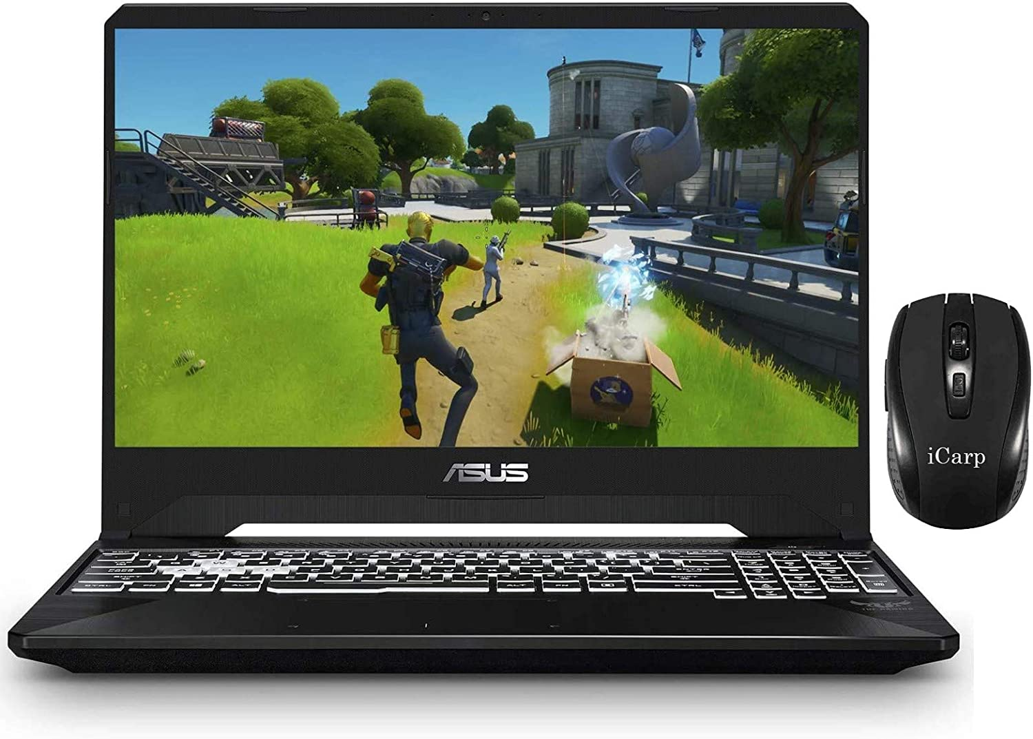"2020 Newest ASUS TUF Gaming Laptop 15.6"" Full HD Display AMD Quad-Core Ryzen 5 3550H (Beats i7-7700HQ) 32GB DDR4 1TB PCIe SSD 4GB GTX 1650 RGB Backlit Webcam Win 10 + iCarp Wireless Mouse"