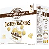 Westminster Bakers Company Premium Restaurant Oyster Crackers, 25 Ounce (50 Count, 1/2 Ounce)