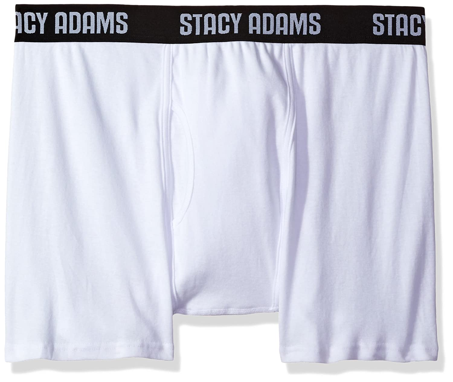 STACY ADAMS Men's Tall 4pack Cotton Boxer Brief, Big Sizes Black XX-Large SA4001BT