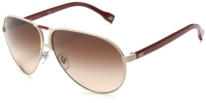 D&G Dolce & Gabbana Men\'s DD6067 Aviator Sunglasses,Beige And Red ...