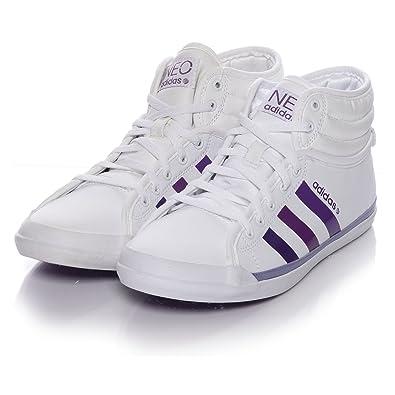 new arrival 86e38 e51af Adidas EZ QT Mid W Neo Women´s Sneaker Trainers White Purple blue Size UK