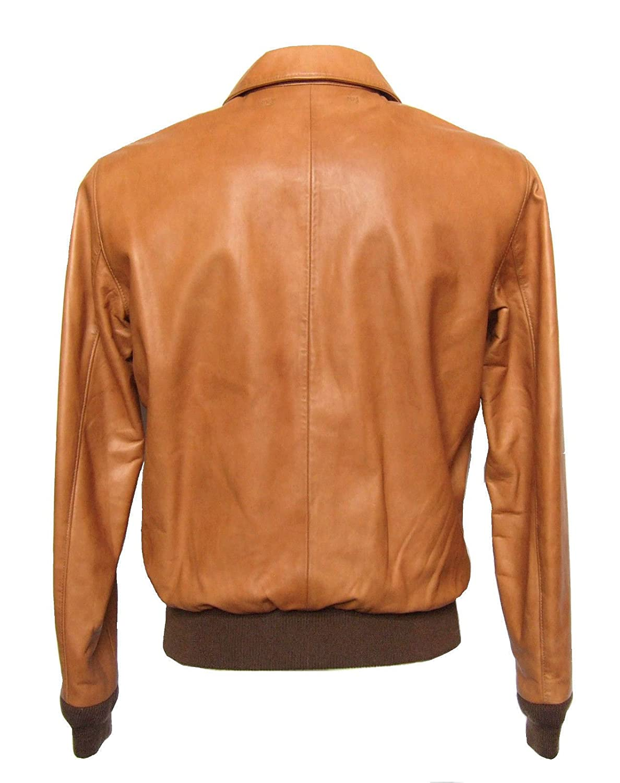 ed3499036 Ralph Lauren Polo Farrington Bomber Leather A2 Flight Jacket Tan ...