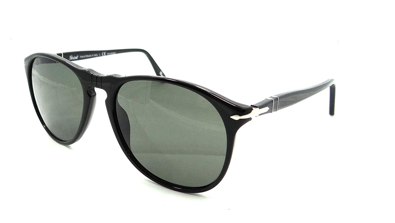 1036ed1b6 Amazon.com: Persol Sunglasses 9649 S 95/58 55x18 Black / Green Polarized  Made in Italy: Clothing