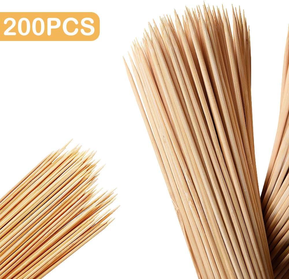 200 St/ück Bambus 40 cm Skystuff Holzspie/ße