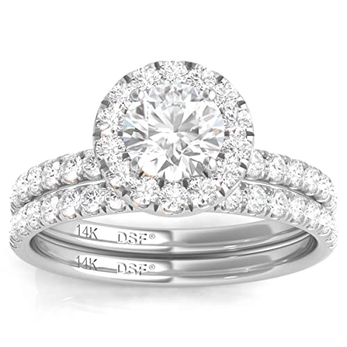 Amazon.com: Diamond Studs Forever 14 K oro blanco Diamante ...