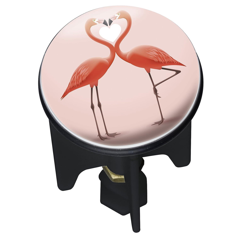 Kunststoff f/ür alle handels/üblichen Abfl/üsse Abfluss-Stopfen mehrfarbig Wenko 22871100 Waschbeckenst/öpsel Pluggy Flamingo Love 3,9 x 6,5 x 3,9 cm