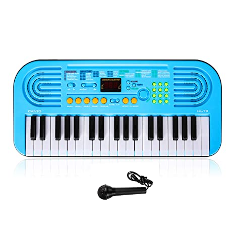 M SANMERSEN Kids Keyboard Piano, 37 Key Portable Electronic Piano for Kids  Piano Toys with Microphone for Kids Toys for 3-6 Year Old Girls Boys Gifts