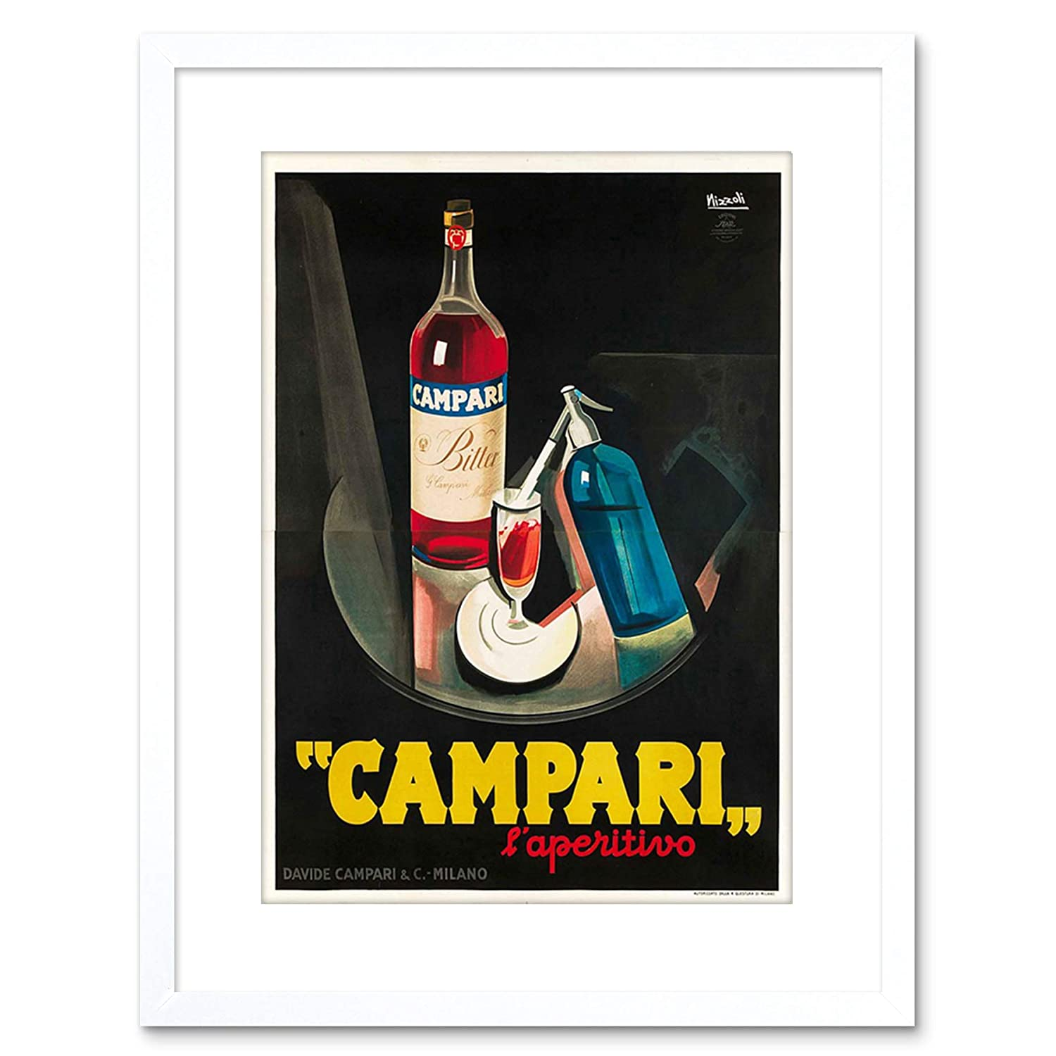 Wee Blue Coo Campari Aperitif 1926 Home Framed Art Print ...