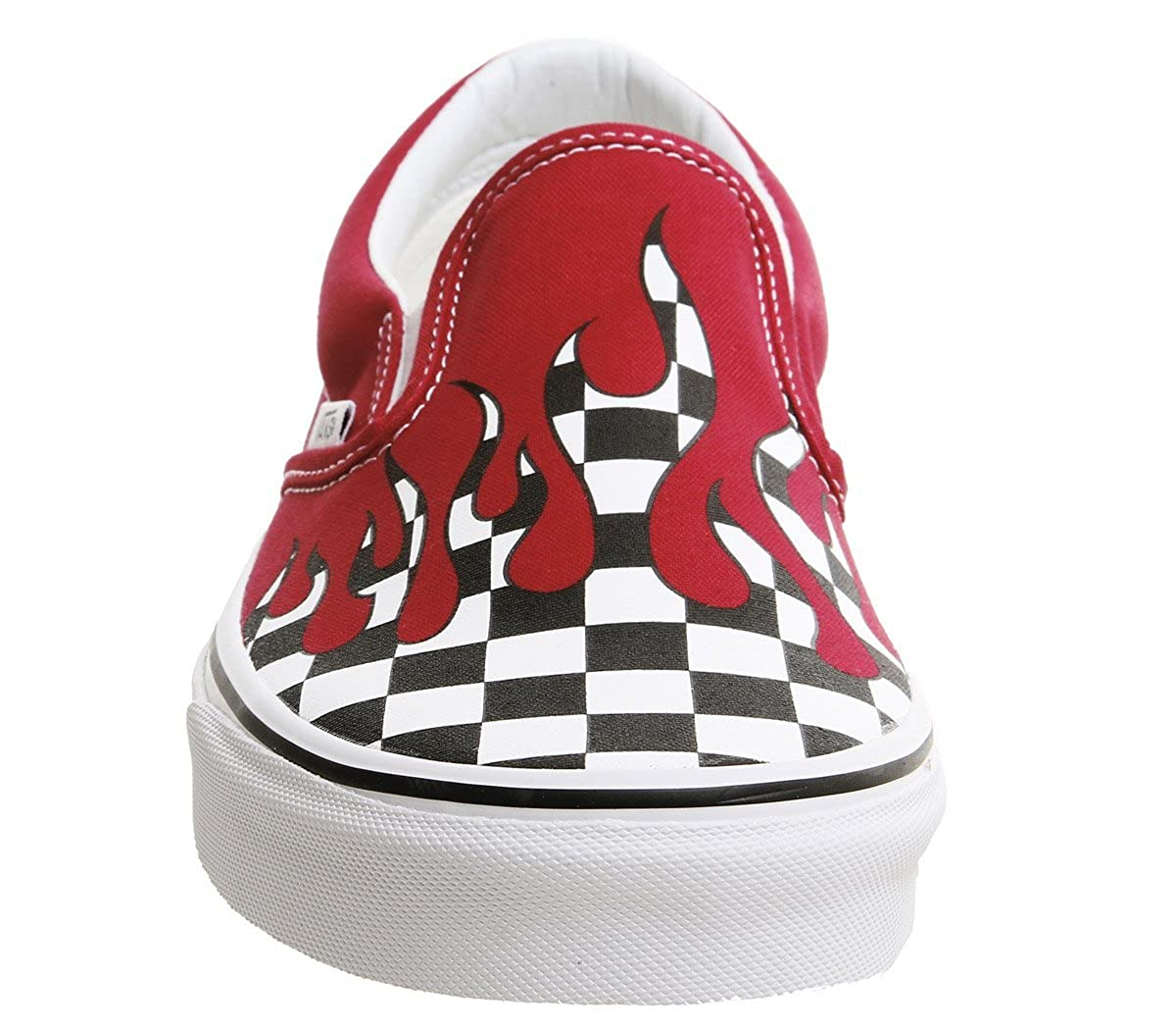 Vans Classic Flame Chaussures Checker RacingRouge Slip