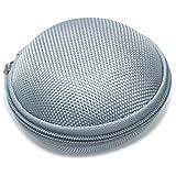 SODIAL(R) Mini Bolsa Funda Porta para Auriculares Lona Color Gris
