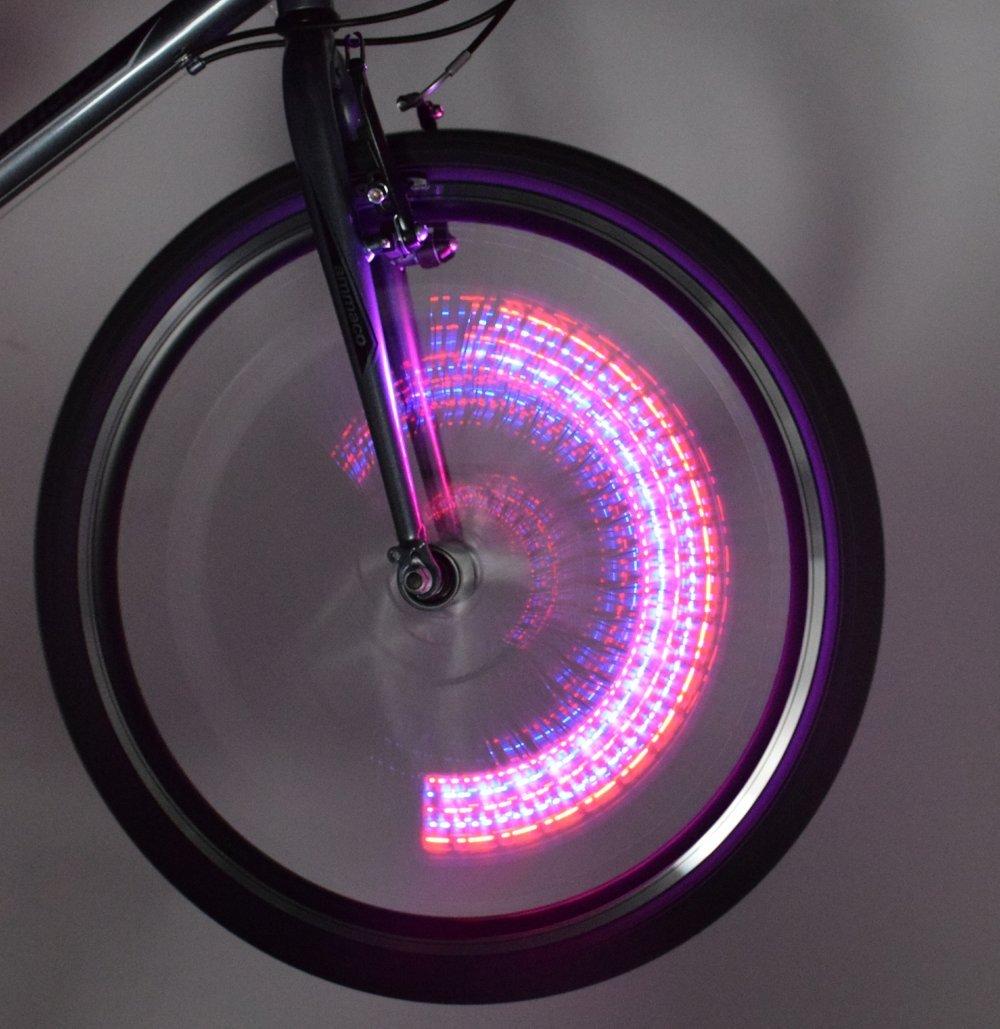 CLAUD BUTLER BIKE VALVE CAP LIGHTS FRONT /& REAR 5 COLOUR LED SCHRADER VALVE PAIR