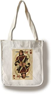 product image for Lantern Press King of Hearts - Playing Card (100% Cotton Tote Bag - Reusable)
