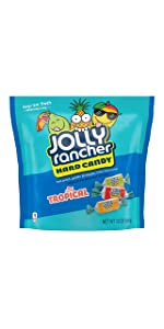 Jolly Rancher Hard Candy Tropical Flavor Candy (Pack of 8)