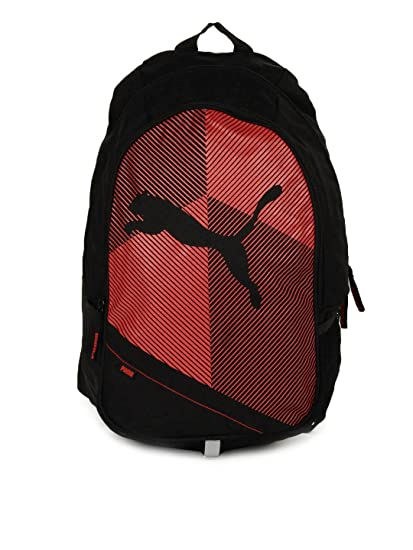 Buy Puma Backpack (Black Red) Online at Low Prices in India - Amazon.in df87f6113d