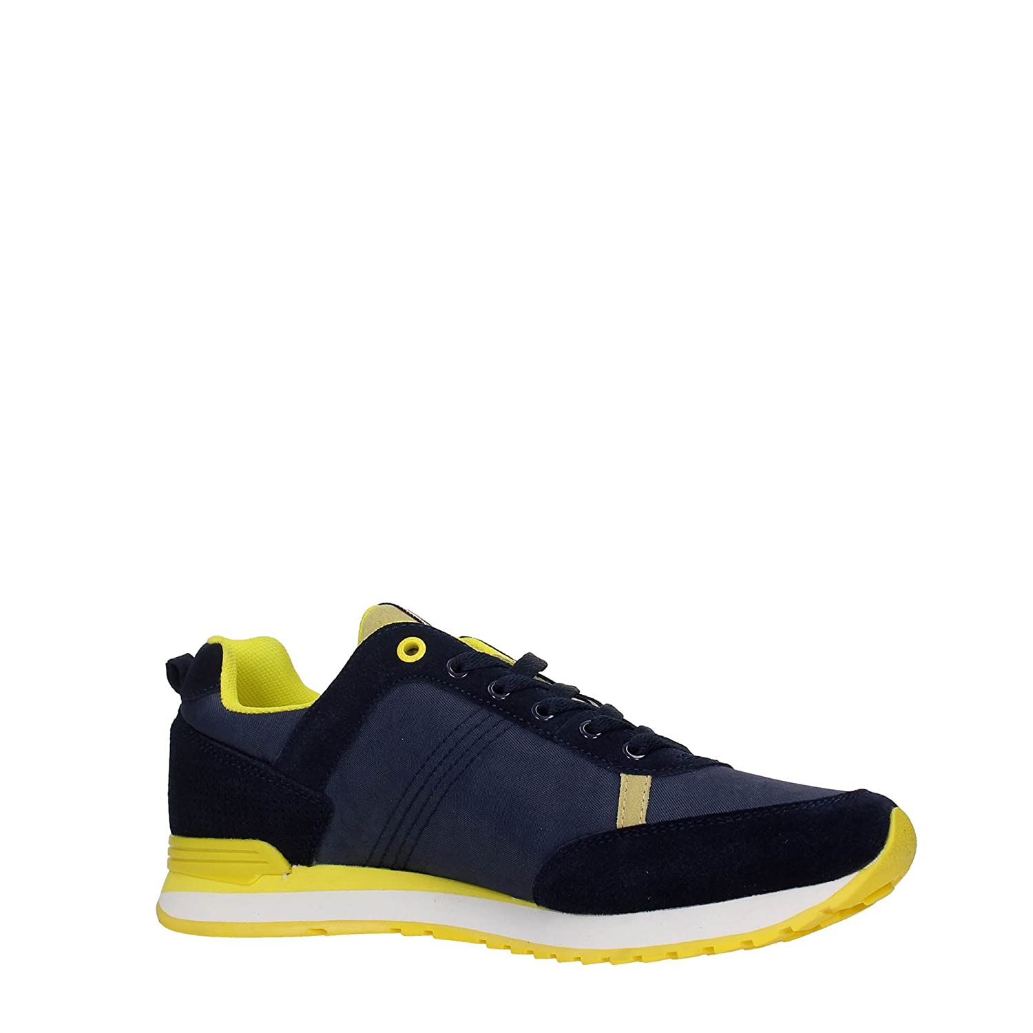 COLMAR ORIGINALS SCARPE TRAVIS COLORS 027 NAVY BLUE YELLOW UOMO 42
