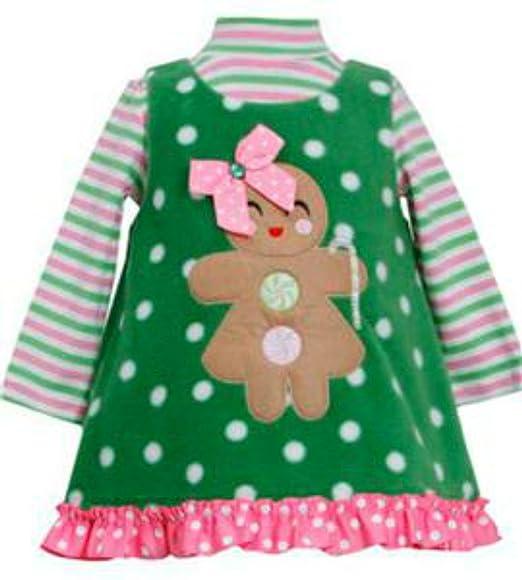 f366bf0943a0 Amazon.com  Bonnie Jean Little Girls  Holiday Gingerbread Man Fleece ...