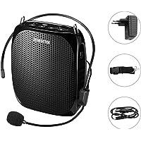 Zoweetek® Amplificador portatil (10W) con 1800 mAh batería de Litio con un microfono para guías Maestros Profesores Artistas animadores promotores de Ventas,etc