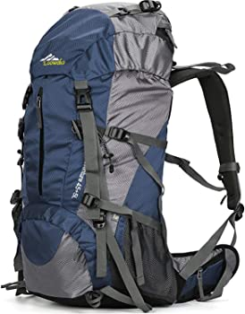 Loowoko 50-Liter Hiking Backpack with Rain Cover