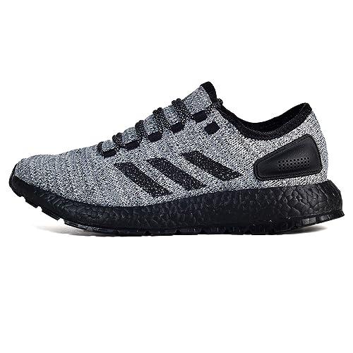 wholesale dealer b905c a07d3 adidas Men s Pureboost ATR Running Shoe White Black Grey 7.5 ...