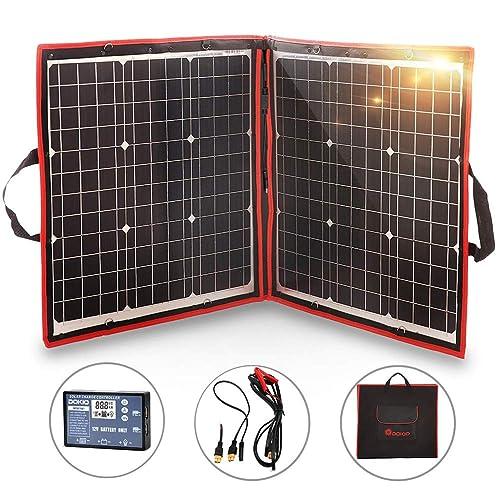 Mono 120W 12V Portable Folding Solar Panel Complete kit For Home Camper RV Car