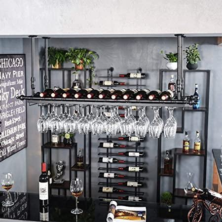 LPYMX Soporte para Botellas de Vino para Montaje e Soporte para ...