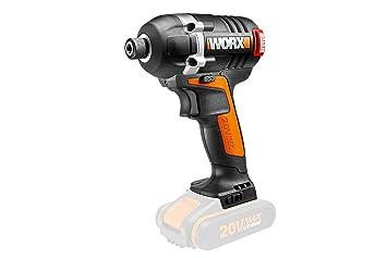 WORX WX292.9 18V 20V MAX atornillador de impacto sin escobillas – solo el cuerpo