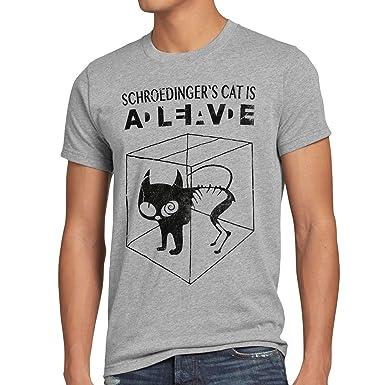 style3 Sheldon Schroedingers Katze Herren T-Shirt, Größe:S;Farbe:Grau
