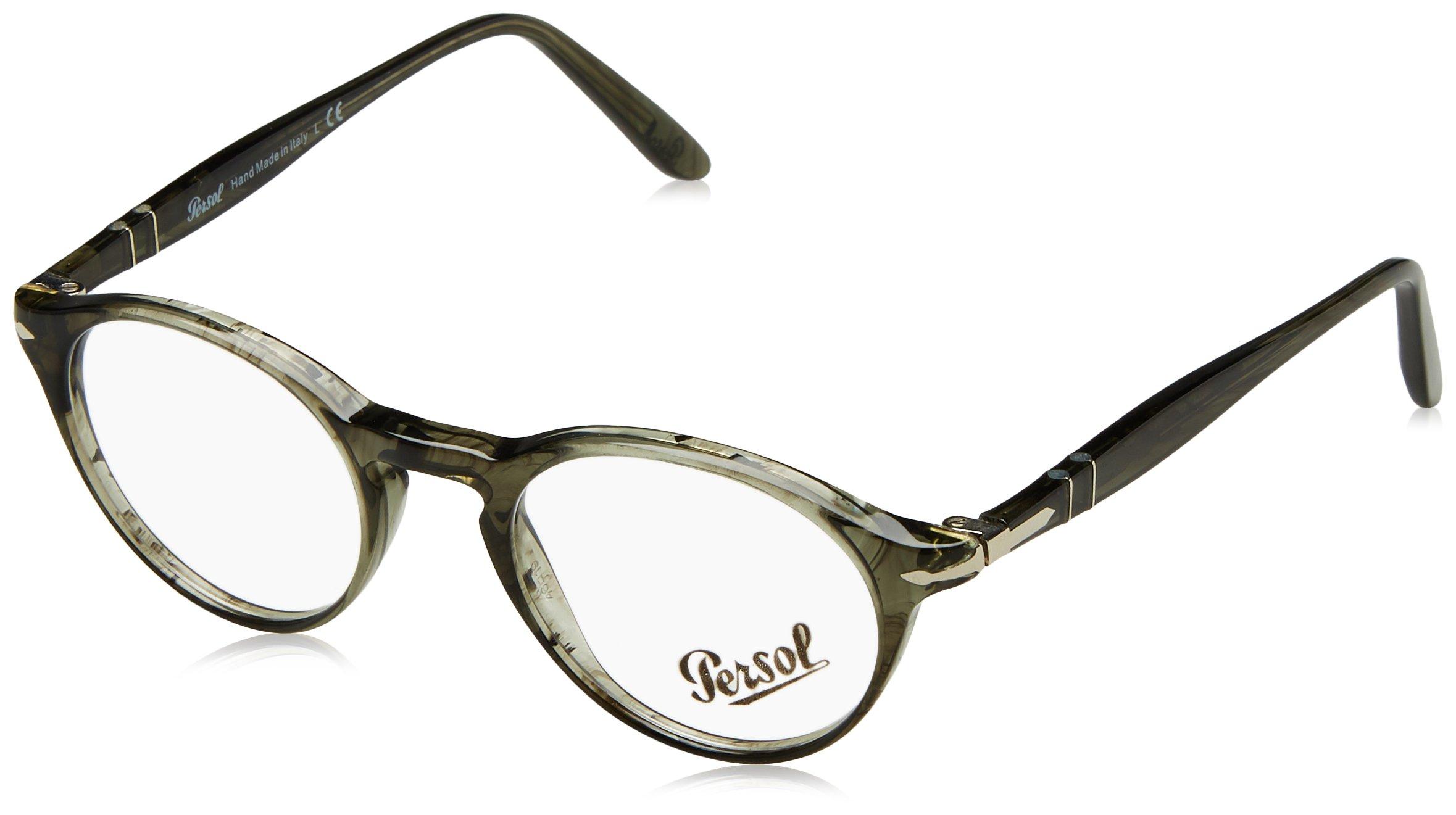 PERSOL Eyeglasses PO 3092V 1020 Striped Grey 46MM