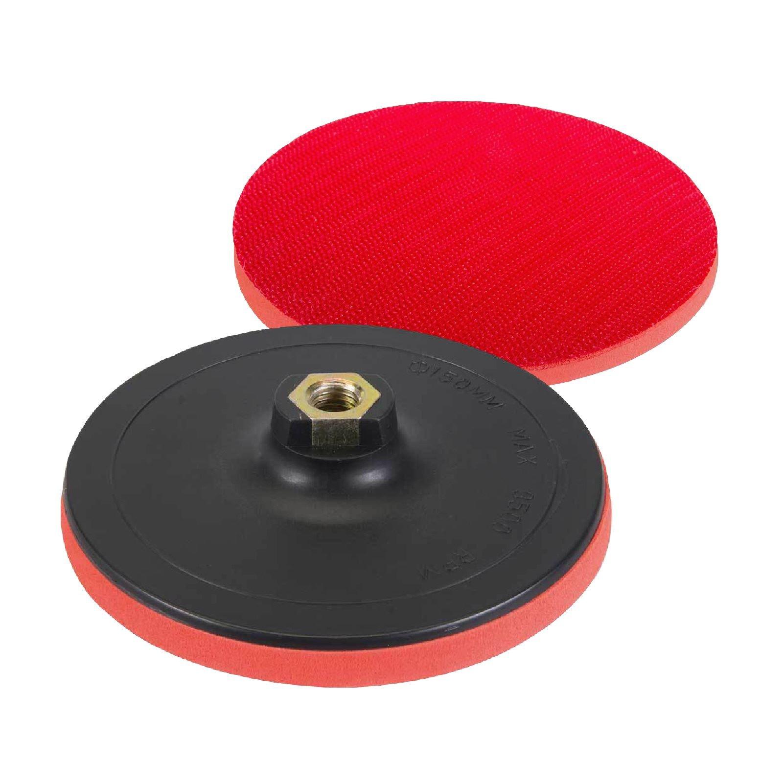 H-Smart Hook & Loop 125 x 10mm Rubber Backing Pad for Angle Grinder Sander Polisher Disc