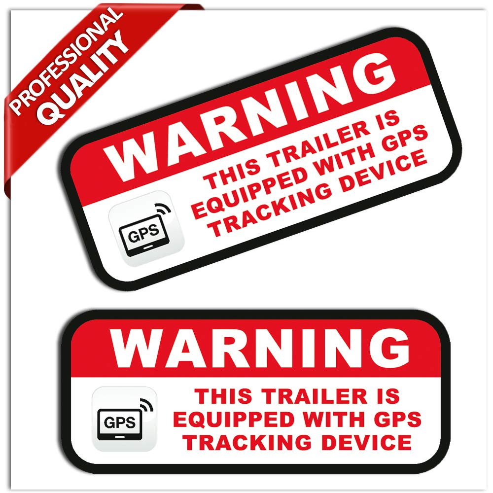 GPS Anti Theft TRAILER Security System Warning Alarm Safety Sticker Track Decal